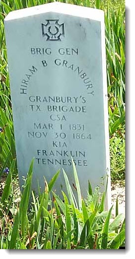 General Granbury Tombstone